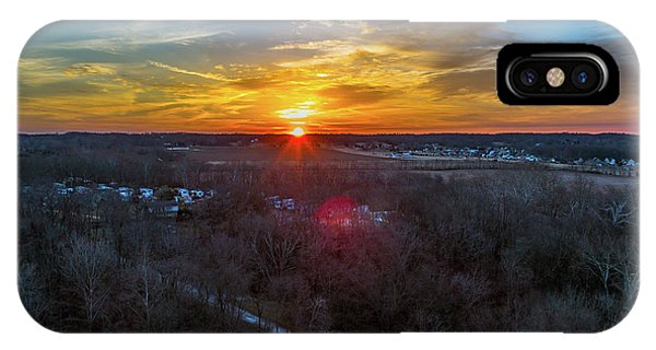 Sunrise Over The Woods IPhone Case