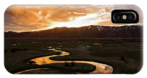 Sunrise Over Winding River IPhone Case