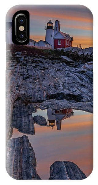 Sunrise Reflections At Pemaquid Point IPhone Case