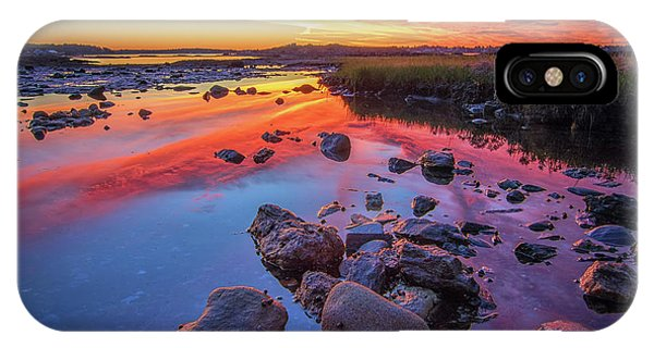 Sunrise Reflections In Harpswell IPhone Case