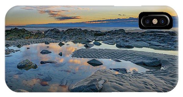 Tidal iPhone Case - Sunrise Reflections On Wells Beach by Rick Berk