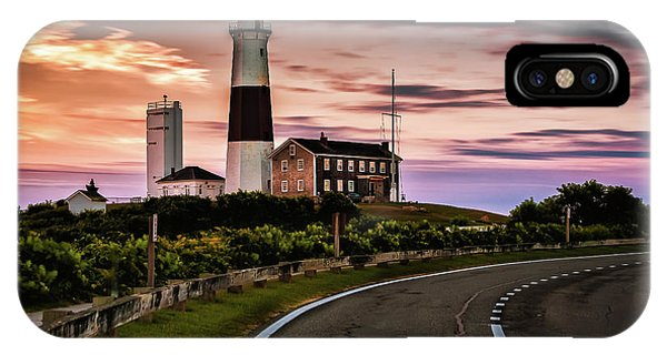 Sunrise Road To The Montauk Lighthous IPhone Case