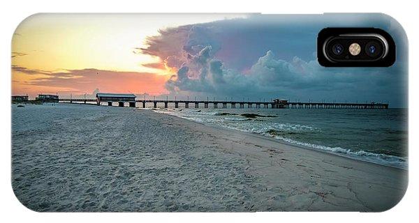 Sunrise Seascape Gulf Shores Al Pier 064a IPhone Case