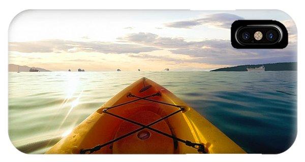 Sunrise Seascape Kayak Adventure IPhone Case