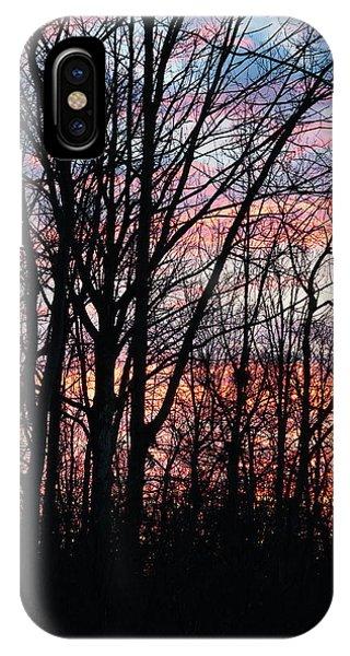 Sunrise Silhouette And Light IPhone Case