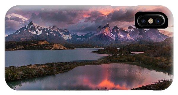 Sunrise Spectacular At Torres Del Paine. IPhone Case