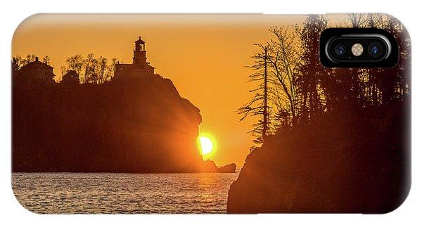 Split Rock iPhone Case - Sunrise Split Rock State Park by Paul Freidlund