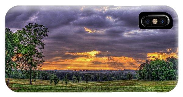 Sunrise Stairways To Heaven Farmland Art IPhone Case