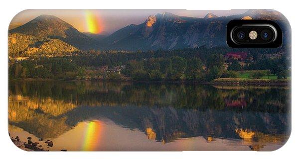Sunrise Summer Rainbow In Colorado IPhone Case