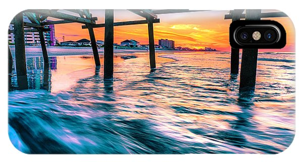 Sunrise Under Cherry Grove Pier IPhone Case