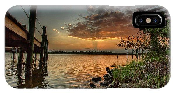 Sunrise Under The Dock IPhone Case
