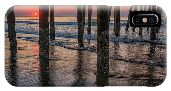 Orchard Beach iPhone Case - Sunrise Under The Pier by Rick Berk