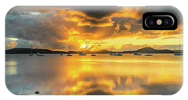 Sunrise Waterscape With Reflections IPhone Case