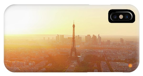 Sunset Above Paris IPhone Case