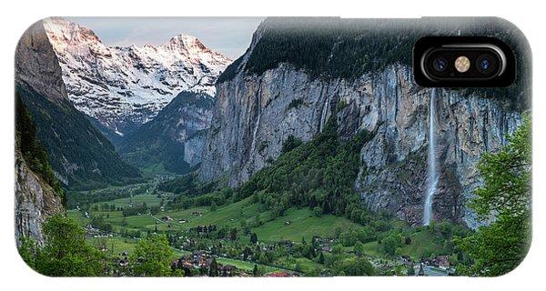 Sunset Above The Lauterbrunnen Valley IPhone Case