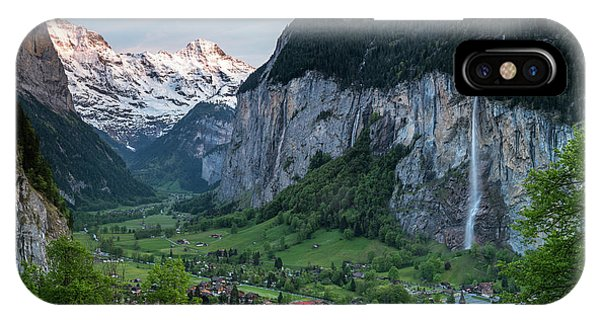 Sunset Above The Lauterbrunnen Valley IPhone Case