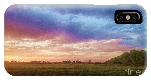 Sunset Across Cheshire IPhone Case