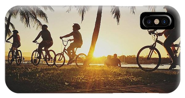 IPhone Case featuring the photograph Sunset Adventures Along The River At Noosaville by Keiran Lusk