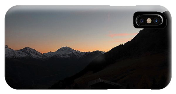 Sunset Afterglow In The Mountains IPhone Case