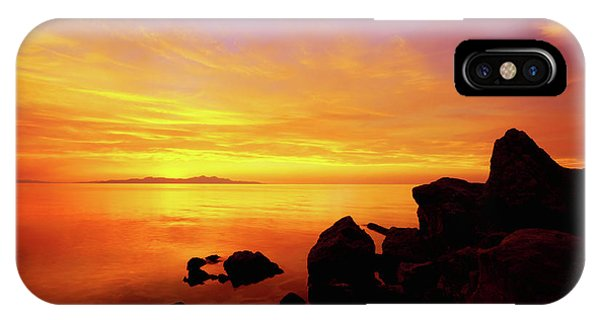 Orange Sunset iPhone Case - Sunset And Fire by Chad Dutson
