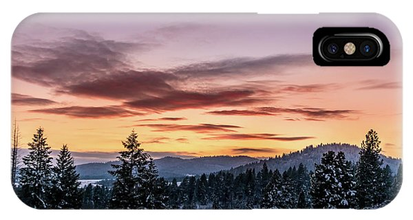 Sunset And Mountains IPhone Case