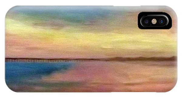 Sunset And Pier IPhone Case