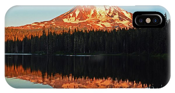 Sunset And Sunrise Mt Adams IPhone Case