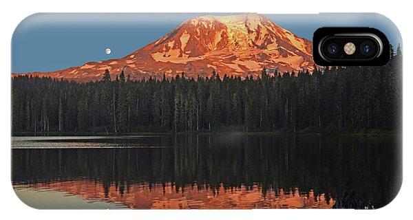Sunset And Moonrise At Takhlakh Lake IPhone Case