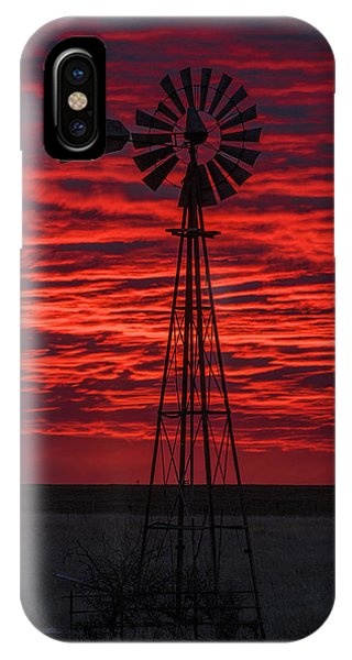 IPhone Case featuring the photograph Sunset And Windmill 02 by Rob Graham