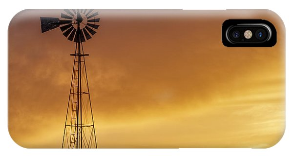 IPhone Case featuring the photograph Sunset And Windmill 09 by Rob Graham