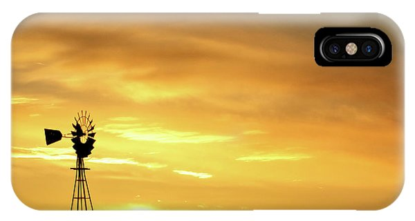 IPhone Case featuring the photograph Sunset And Windmill 11 by Rob Graham