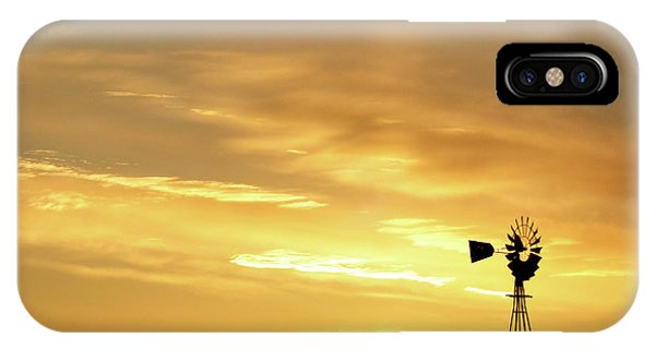 IPhone Case featuring the photograph Sunset And Windmill 13 by Rob Graham