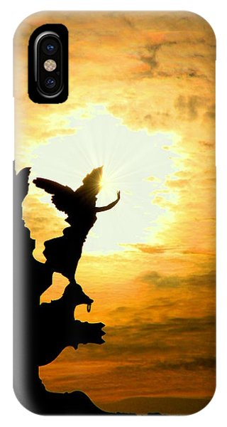 Sunset Angel IPhone Case