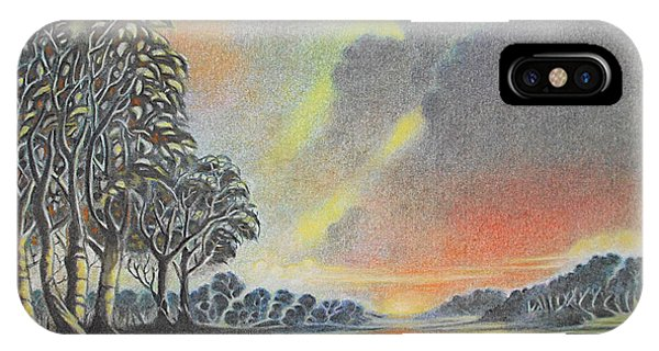 Sunset Angler IPhone Case