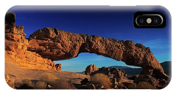 IPhone Case featuring the photograph Sunset Arch Pano by Edgars Erglis