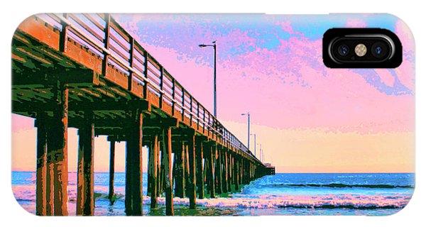 Sunset At Avila Beach Pier IPhone Case