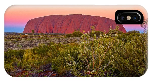 Sunset At Ayers Rock IPhone Case