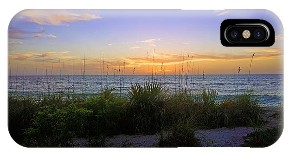 Sunset At Barefoot Beach Preserve In Naples, Fl IPhone Case