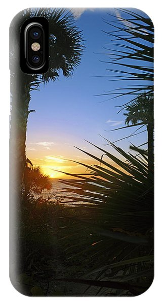 Sunset At Bearefoot Beach In Naples IPhone Case