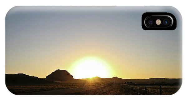 Sunset At Castle Butte Sk IPhone Case