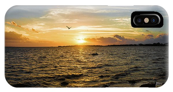 Sunset At Cedar Key IPhone Case