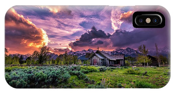 Sunset At Chapel Of Tranquility IPhone Case