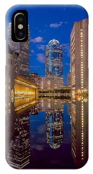 Sunset At Christian Plaza IPhone Case