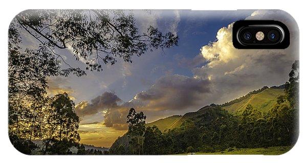 Sunset At Cocora IPhone Case