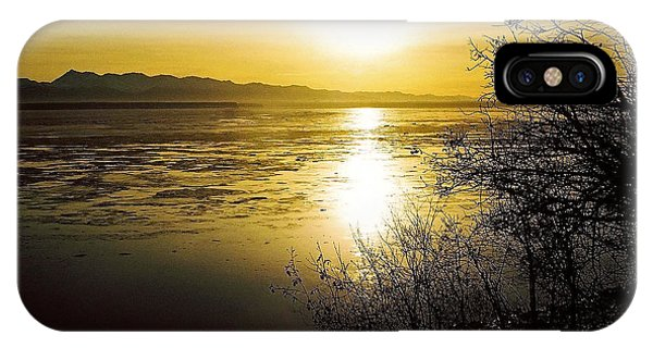 Sonne iPhone Case - Sunset At Cook Inlet - Alaska by Juergen Weiss
