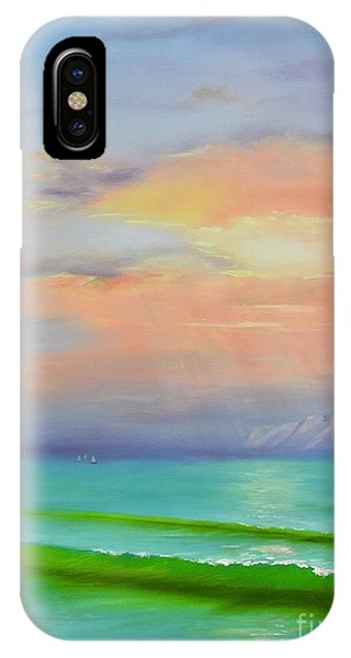 IPhone Case featuring the painting Sunset At Dana Point  by Mary Scott