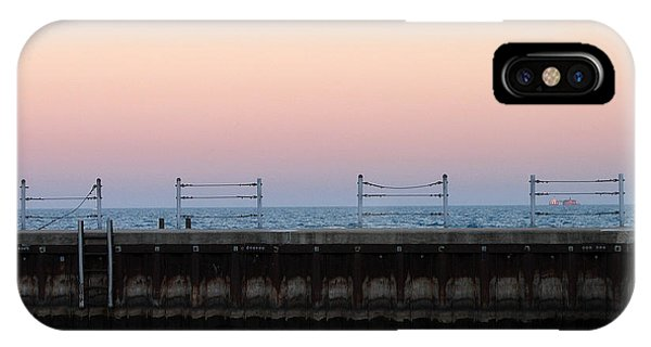 Sunset At Diversey Harbor IPhone Case