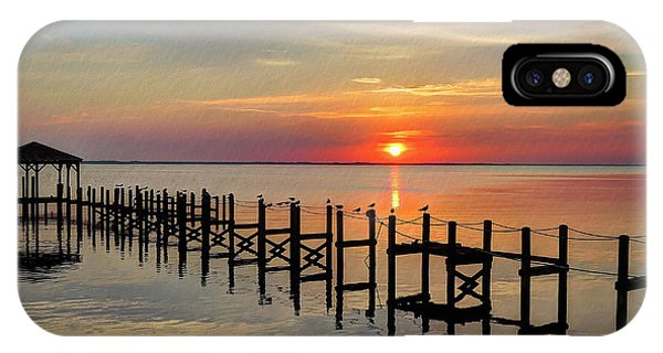 Sunset At Duck Obx IPhone Case
