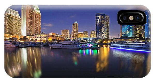 Sunset At Embarcadero Marina Park In San Diego IPhone Case
