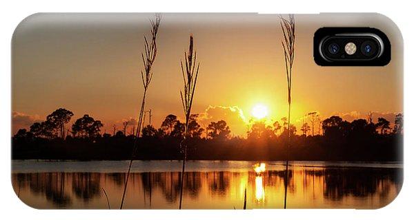 Sunset At Gator Hole 3 IPhone Case